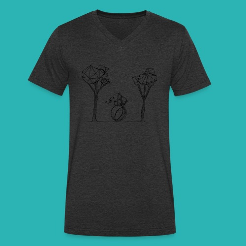 Rotolare_o_capitombolare-01-png - T-shirt ecologica da uomo con scollo a V di Stanley & Stella