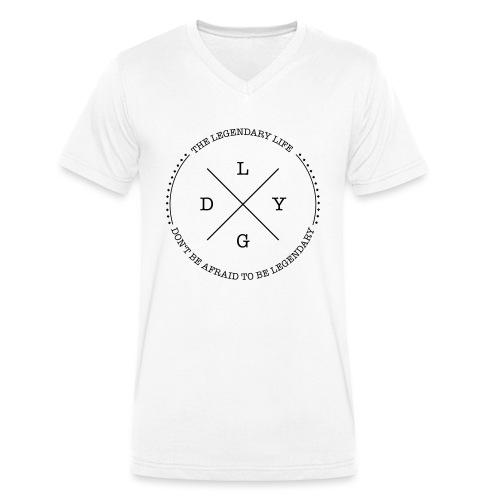 The Legendary Life Classic T - Männer Bio-T-Shirt mit V-Ausschnitt von Stanley & Stella