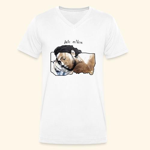 arte es vida - Camiseta ecológica hombre con cuello de pico de Stanley & Stella