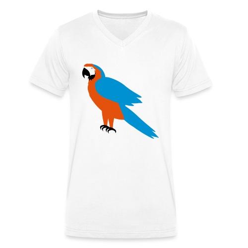 Parrot - T-shirt ecologica da uomo con scollo a V di Stanley & Stella
