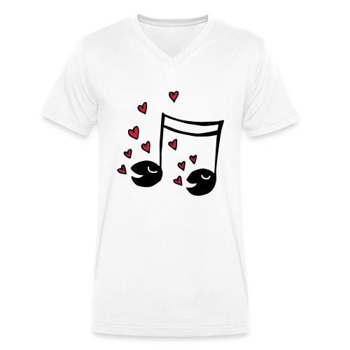 Love tunes - Männer Bio-T-Shirt mit V-Ausschnitt von Stanley & Stella