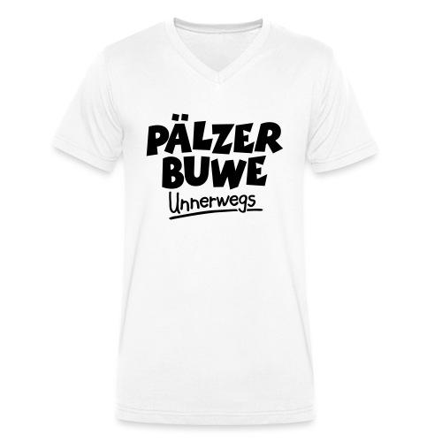 Pälzer Buwe Unnerwegs - Pfälzer Männer auf Tour - Männer Bio-T-Shirt mit V-Ausschnitt von Stanley & Stella