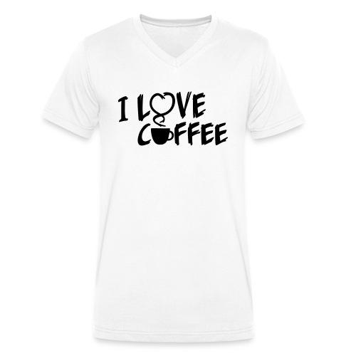 I love Coffee / Ich liebe Kaffee 1 color - Männer Bio-T-Shirt mit V-Ausschnitt von Stanley & Stella