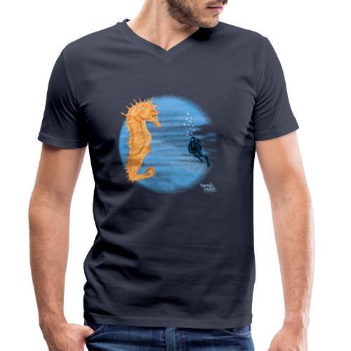 hippocampe - T-shirt bio col V Stanley & Stella Homme