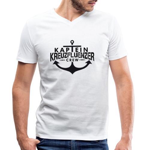Kaptein Kreuzfluenzer Crew - Männer Bio-T-Shirt mit V-Ausschnitt von Stanley & Stella