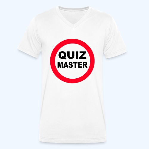 Quiz Master Stop Sign - Men's Organic V-Neck T-Shirt by Stanley & Stella