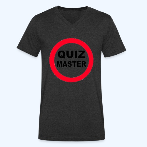 Quiz Master Stop Sign - Men's Organic V-Neck T-Shirt by Stanley & Stella