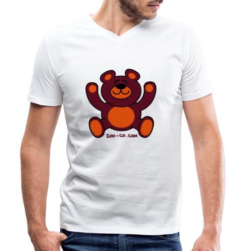 Christmas Teddy Bear - Men's Organic V-Neck T-Shirt by Stanley & Stella