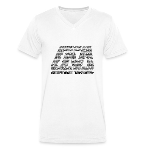 CM Logo aus Text schwarz - Männer Bio-T-Shirt mit V-Ausschnitt von Stanley & Stella