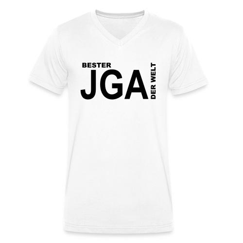 Bester JGA der Welt - Männer Bio-T-Shirt mit V-Ausschnitt von Stanley & Stella