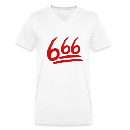 666 playera - Camiseta ecológica hombre con cuello de pico de Stanley & Stella