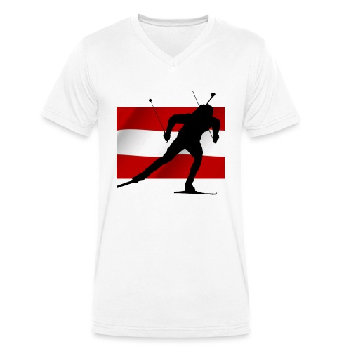 Biathlon Austria - Männer Bio-T-Shirt mit V-Ausschnitt von Stanley & Stella