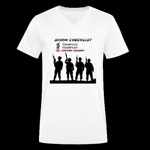 Skirm Checklist - Mannen bio T-shirt met V-hals van Stanley & Stella