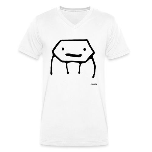 Strichmännchen - Männer Bio-T-Shirt mit V-Ausschnitt von Stanley & Stella
