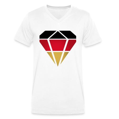 Diamond Germany (Diamant Deutschland ) - Männer Bio-T-Shirt mit V-Ausschnitt von Stanley & Stella