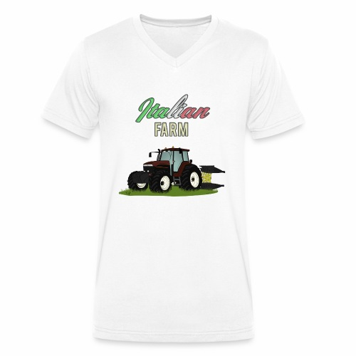 Italian Farm official T-SHIRT - T-shirt ecologica da uomo con scollo a V di Stanley & Stella