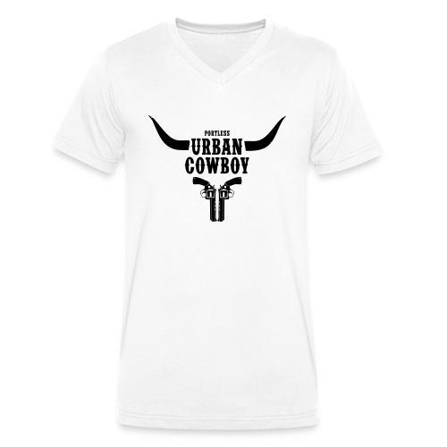Portless Urban Cowboy - Männer Bio-T-Shirt mit V-Ausschnitt von Stanley & Stella