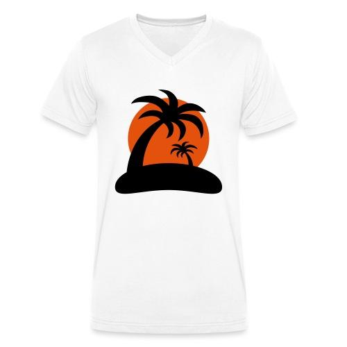 palm island sun - Mannen bio T-shirt met V-hals van Stanley & Stella
