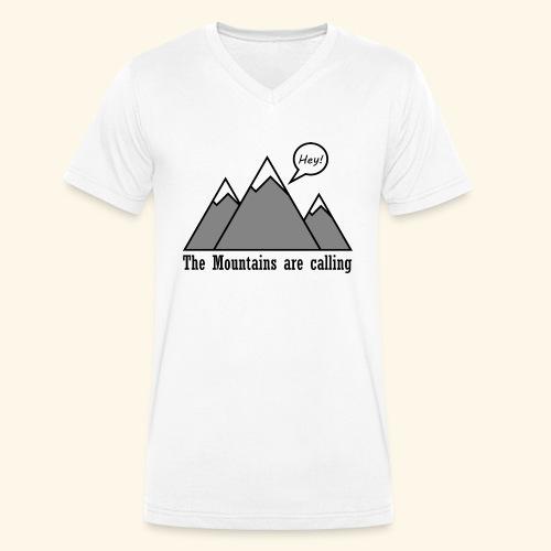 mountains calling - Männer Bio-T-Shirt mit V-Ausschnitt von Stanley & Stella