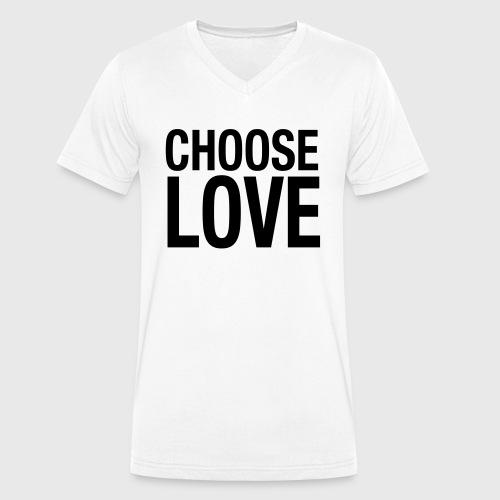 CHOOSE LOVE - Männer Bio-T-Shirt mit V-Ausschnitt von Stanley & Stella