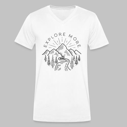 Explore more - Men's Organic V-Neck T-Shirt by Stanley & Stella