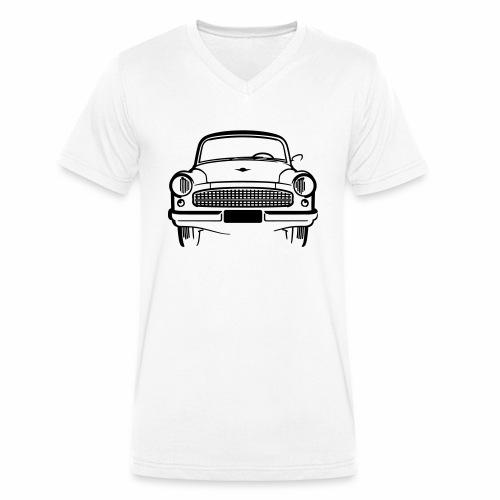 Wartburg 311 front - Men's Organic V-Neck T-Shirt by Stanley & Stella