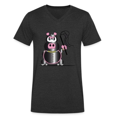 Schweinchen Sado - Männer Bio-T-Shirt mit V-Ausschnitt von Stanley & Stella