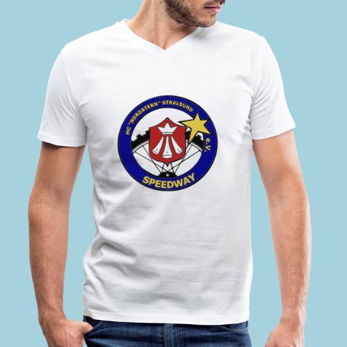 MCN Logo beidseitig - Männer Bio-T-Shirt mit V-Ausschnitt von Stanley & Stella