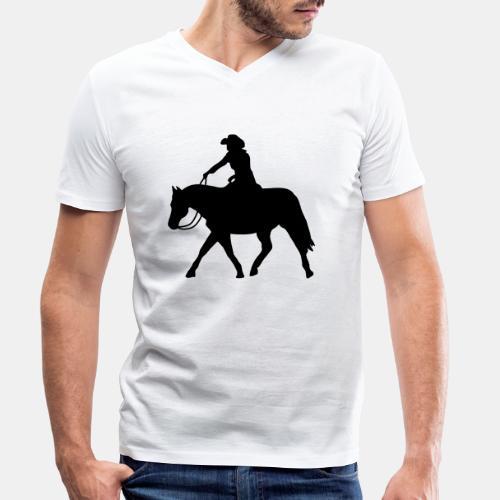 Ranch Riding extendet Trot - Männer Bio-T-Shirt mit V-Ausschnitt von Stanley & Stella