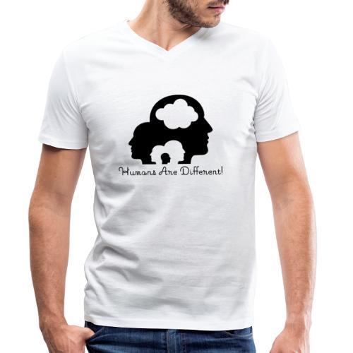 Humans are different schwarz - Männer Bio-T-Shirt mit V-Ausschnitt von Stanley & Stella
