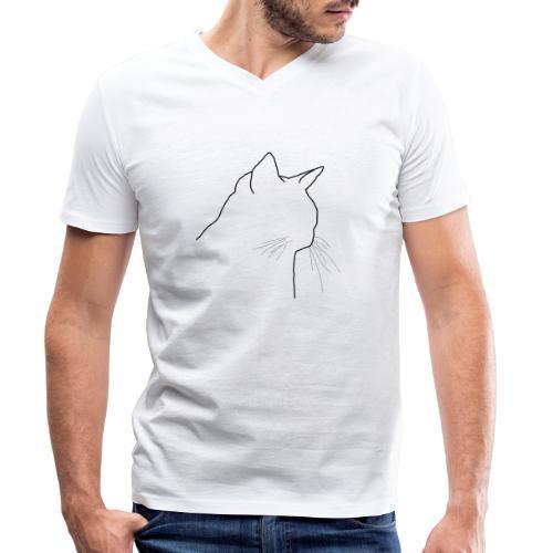 Katzenkopf - Männer Bio-T-Shirt mit V-Ausschnitt von Stanley & Stella