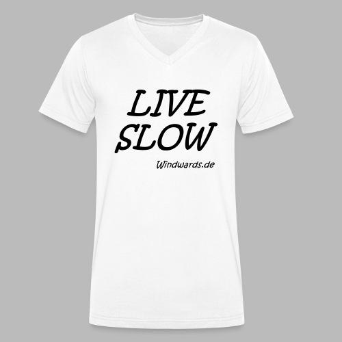 live slow - Männer Bio-T-Shirt mit V-Ausschnitt von Stanley & Stella