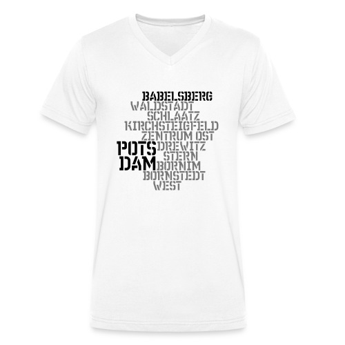Babelsberg - Männer Bio-T-Shirt mit V-Ausschnitt von Stanley & Stella