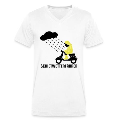 Schietwetterfahrer - Männer Bio-T-Shirt mit V-Ausschnitt von Stanley & Stella