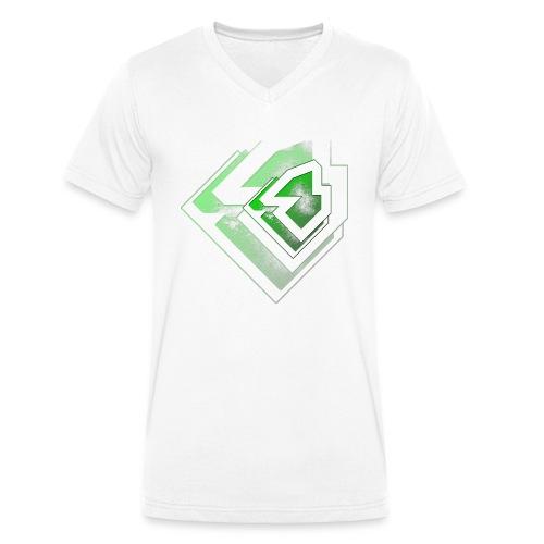 BRANDSHIRT LOGO GANGGREEN - Mannen bio T-shirt met V-hals van Stanley & Stella