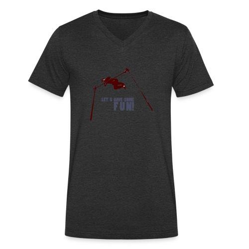 Let s have some FUN - Mannen bio T-shirt met V-hals van Stanley & Stella