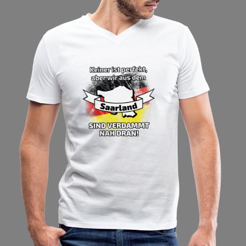 Perfekt Saarland - Männer Bio-T-Shirt mit V-Ausschnitt von Stanley & Stella