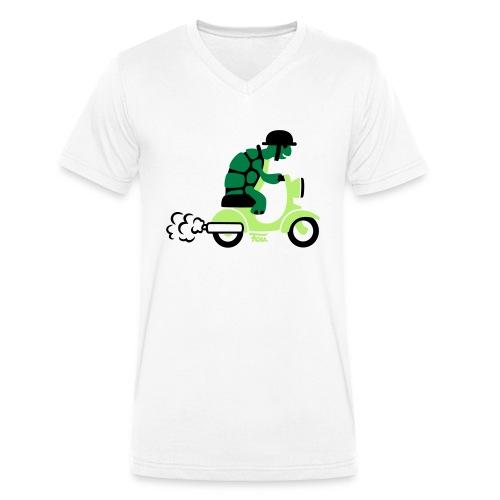 Schildkröte Moped - colored - Männer Bio-T-Shirt mit V-Ausschnitt von Stanley & Stella