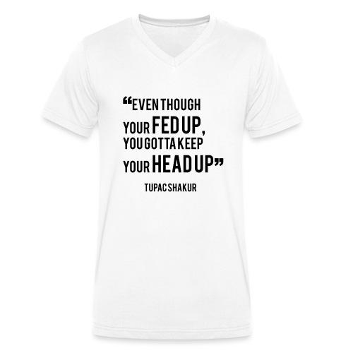 Mental Health Quote 1 - Men's Organic V-Neck T-Shirt by Stanley & Stella