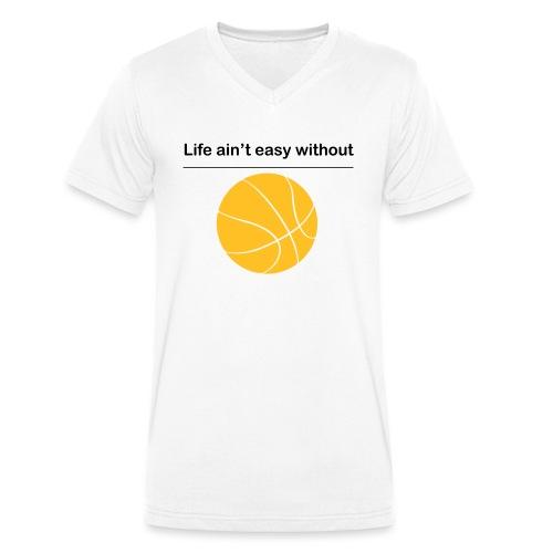 life_aint_easy - Männer Bio-T-Shirt mit V-Ausschnitt von Stanley & Stella