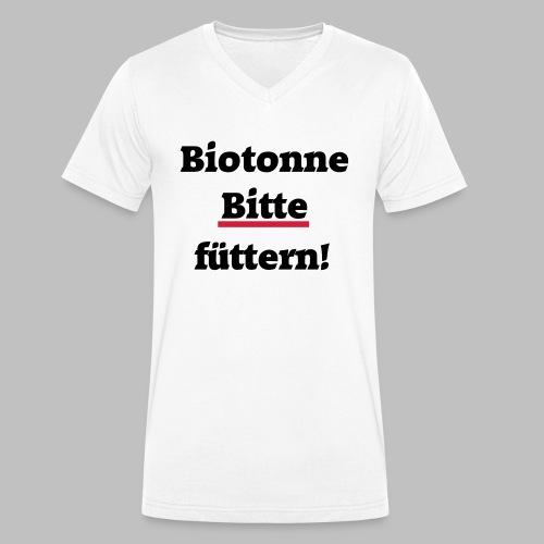 Biotonne - Bitte füttern! - Männer Bio-T-Shirt mit V-Ausschnitt von Stanley & Stella