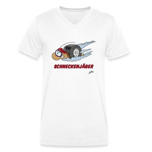 Schneckenjäger - Männer Bio-T-Shirt mit V-Ausschnitt von Stanley & Stella