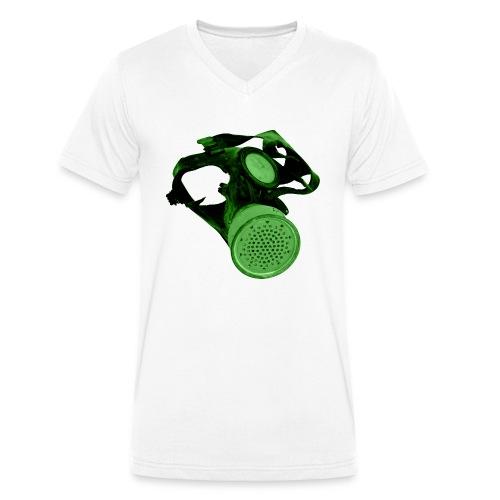 gas shield - Men's Organic V-Neck T-Shirt by Stanley & Stella