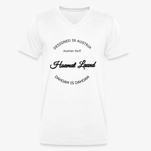 hoamatlaund mit bissl an text - Männer Bio-T-Shirt mit V-Ausschnitt von Stanley & Stella