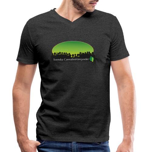 Svenska Cannabisfrämjandet - Ekologisk T-shirt med V-ringning herr från Stanley & Stella