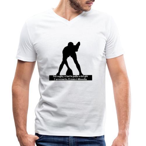 Rugby - T-shirt ecologica da uomo con scollo a V di Stanley & Stella