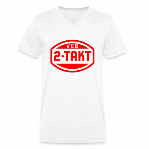 VEB 2-Takt Logo (1c) - Men's Organic V-Neck T-Shirt by Stanley & Stella