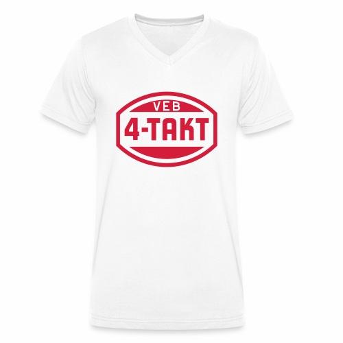 VEB 4-Takt Logo (1c) - Men's Organic V-Neck T-Shirt by Stanley & Stella