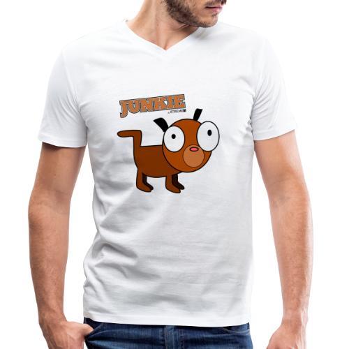 Junkie - Männer Bio-T-Shirt mit V-Ausschnitt von Stanley & Stella