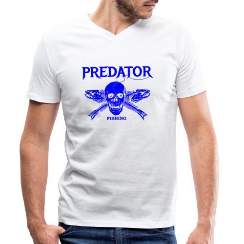 Predator fishing blue - Männer Bio-T-Shirt mit V-Ausschnitt von Stanley & Stella